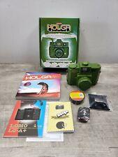 Lomography Holga 120 CFN Camera Starter Kit Medium Format Film *Green* -Open Box