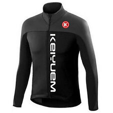 Black Men's Long Sleeve Cycling Jersey Vintage Bicycle Cycle Jersey Shirt S-5XL
