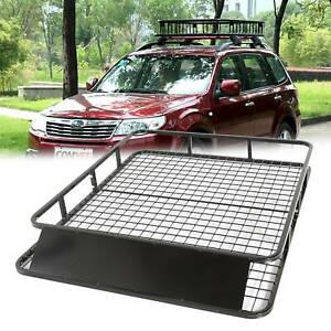 Universal Roof Basket Steel Cargo Luggage Tray Folding Carrier Rack 1.2*1.0m