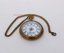 Pocket Watch Nautical Antique Maritime with Key Chain Fully Hand Made Design