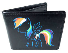 MY LITTLE PONY RAINBOW DASH BLACK BIFOLD WALLET CREDIT CARD ID PHOTO HOLDER LOGO