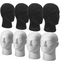 Polystyrolschaum Mannequin Gesicht Modell Kopf Perueckenhalter Brillenglaes E2J9