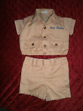 BUILD A BEAR OUTFIT BACK PACKER SHIRT AND SHORT OUTFIT
