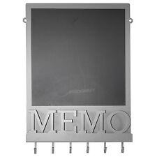 Magnetic Chalk Memo Notice Black Board Vintage Grey Letter Rack Coat Key Hooks