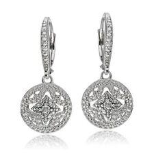 Natural Diamond Leverback Fine Earrings