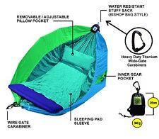Hammock - Adventurers Double - 100% Parachute Material - Colour Ocean TriTone