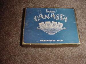 VINTAGE CANASTA BLACKSTONE PLAYING CARDS SEALED CINCINNATI OHIO 1951 2 DECKS