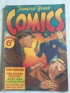 AUST. 6d PRINTING FAMOUS YANK COMICS GOOD  CONDITION, Vintage