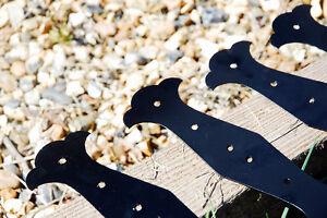 5 X FANCY STRAIGHT Decorative Timber Railway Sleeper Brackets Planter  -Black