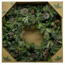 32inch Dual Color LED Wreath Prelit With 50 Color Changing LEDs Battery Operated