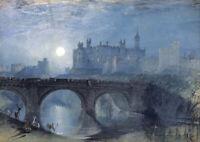 W.Turner - Alnwick Castle - HUGE A1 size 59.4x84cm Canvas Print Poster Unframed
