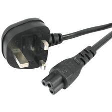 C5 3 Pin Ordenador Portátil AC Adaptador cargador, cable de alimentación, cable de red, cable con enchufe de Reino Unido