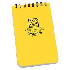 Rite In The Rain 735 Waterprooof Pocket Top Spiral Notebook Notepad 3x5 Yellow