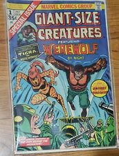 GIANT-SIZE CREATURES #1 Werewolf by Night Origin & 1st Tigra! Marvel Comic