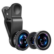 Professional Mobile Phone Lens Kit Universal 3 in 1 Fish Eye Macro Wide Angle