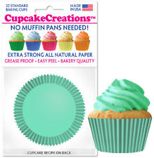 """9147 - """"Mint"""" Cupcake Creations, No Muffin Pan Required Baking Cups"""