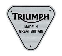 Logo adhésif gravé MADE IN GB Triumph Bonneville - 5cm x 5cm - épaisseur 1mm