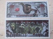ZOMBIE APOCALYPSE ~  $1,000,000 One Million Dollar Bill ~ Dead Corpses Eat Flesh