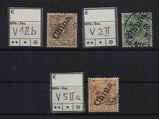 Kiautschou Vorläufer V 1II b, V 2 II und V 5 II a gestempelt (B05573)