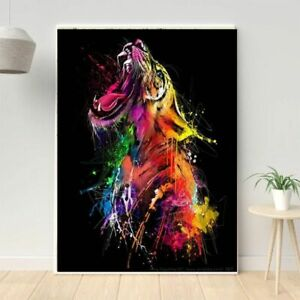 Colorful Tiger Graffiti Art Canvas Painting Animal Posters And Prints Picture