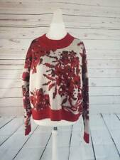 SIZE 18 MOHAIR BLEND AUTOGRAPH RED MIX JUMPER MARKS AND SPENCER