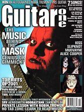 Guitar One Magazine February 2002 - Kiss, Mudvayne, Slipknot, Alice Cooper