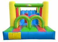 Inflatable Jumping Bouncer Jumpers Outdoor Bounce House w/Obstacle & Slide Combo