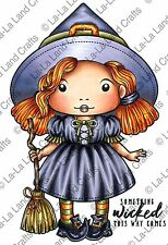 WITCH MARCI-La-La Land Crafts Cling Mount Rubber Stamp-Stamping Craft-Halloween