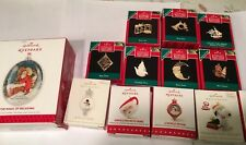 Hallmark Keepsake Ornament Miniature ~ Lot Of 14 -Brass & Snoopy