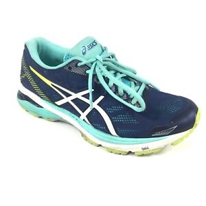 Asics Womens 8.5 Blue Teal Running Shoes (T6A8N)
