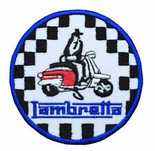 Lambretta Motor Scooters Patch - Embroidered - Iron or Sew OnA448