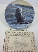 The Stately Owls The Snowy Owl Bradford Exchange Plate #1