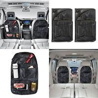 2 Car Back Seat Tidy Organizer BAG Travel Storage Bag Pocket Pouch Holder Black