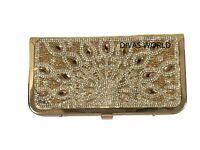 Ladies Gold Shiny Clutch Perfect Wedding Designer Purse Classy Women's Handbag