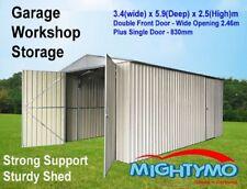 Garden Workshop Storage Garage Shed, 3.4(W) x 5.9(D) x 2.5(H)m Double n PA Door