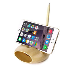 Universal Desk Stand Mobile Phone Tablet Holder Portable Wooden Holder 8C