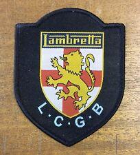 Lambretta Club Great Britain - LCGB Lion and Shield Cloth Patch- LCGB