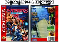 Streets of Rage 2 - Sega Genesis Custom Case *NO GAME*