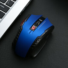 1600dpi Wireless 2.4GHz, 2.4G Optical USB Computer 6D Gaming Mouse ( BLUE )