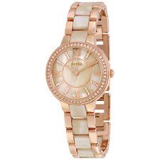 Fossil Virginia Beige Dial Ladies Watch and Earring Set ES3965SET