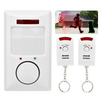 Wireless Alarm System Infrared Motion Sensor Detector Wall Alert Home Security