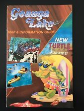 1989 Geauga Lake Aurora, Ohio Amusement Park Map & Information Guide