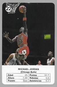 1988 Fournier Estrellas Michael Jordan # 22 NM/MT Chicago Bulls