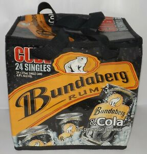 Bundaberg Rum COOLER BAG Cube Holds 24 Cans  - 2000 Promotional * As New