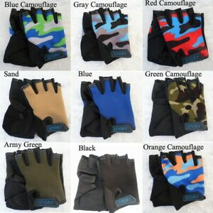 Kids & Girls Cycling Gloves Children Bicycle Cycle Gloves Child Fingerless 1pair