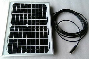 Mobility Scooter Solar Panel Battery Charger 10w 10 watt 24v 24 volt +1m lead