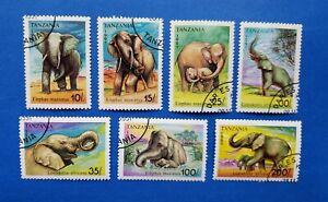 Tanzania Stamps, Scott 792-798 CTO'S Non-Hinged