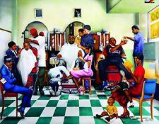 METAL MAGNET African American Black Barber Shop Family Friend MAGNET