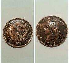 Dos centavos 1891 Argentina variante a bordo alta qualità .  .