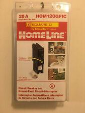 Square D Homeline HOM120GFIC 20A Single Pole Circuit Breaker GFCI